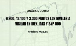6.900, 13.100 y 3.300 puntos los niveles a vigilar en Ibex, Dax y S&P 500